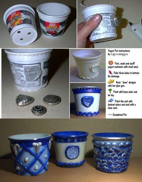 Idee per riciclare i vasetti di yougurt