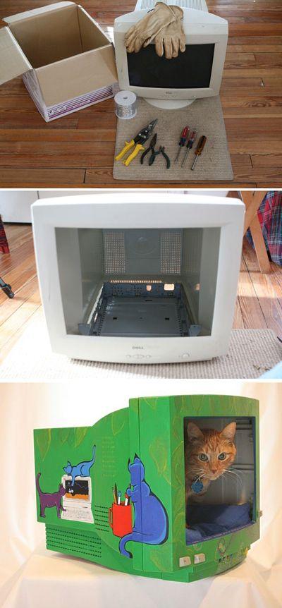 Riciclo creativo di vecchi computer e tastiere