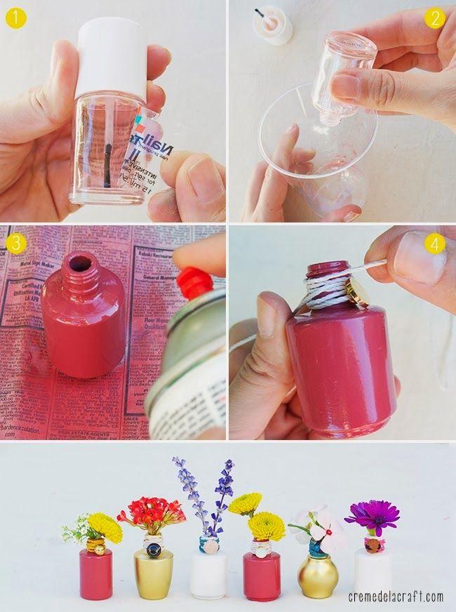 Come riciclare i flaconi degli smalti per unghie