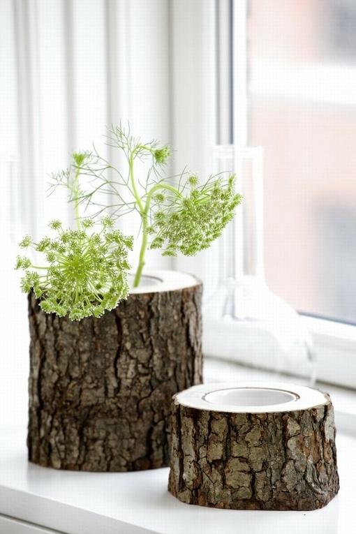 Riciclare un tronco di albero