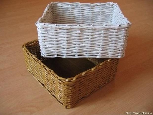 Come realizzare un cestino con la carta di giornale