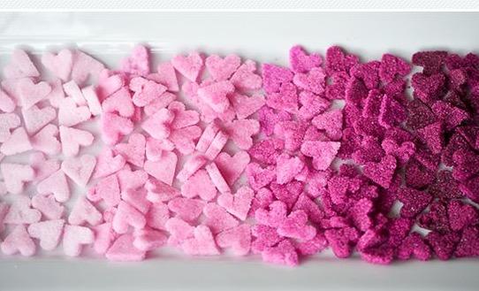 Zuccherini a forma di cuore per San Valentino