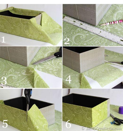 Crea un organizer con vecchie scatole