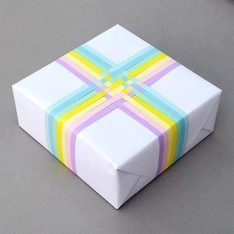 Decorazione per pacchi regalo fai da te