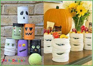 Riciclo creativo delle lattine per Halloween