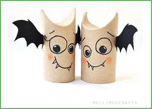 riciclo tubi di cartone halloween