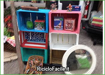 cassette di legno riciclate